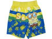 Nickelodeon Baby Boys Yellow Blue SpongeBob SquarePants Swim Shorts 24M