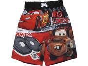 Disney Little Boys Red Cars Inspired Print UPF 50 Swimwear Shorts 4T