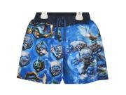 Skylanders Swap Force Little Boys Blue Sky Character Print Swim Wear Shorts 7 9SIA4364UV3857