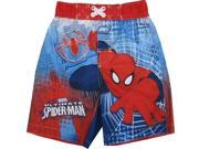 Marvel Little Boys Red Blue Ultimate Spiderman Print Swim Shorts 4T 9SIA4364U57493