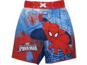 Marvel Little Boys Red Blue Ultimate Spiderman Print Swim Shorts 3T 9SIA4364U57495