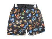 Skylanders Swap Force Big Boys Black Character Print Swim Wear Shorts 8 9SIA4363V34837