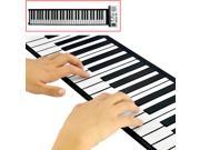Electronic Piano 61 keys Flexible Roll Up Keyboard and Synthesizer
