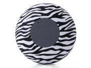 Waterproof Stereo Wireless Bluetooth Speaker Handsfree with Suction Cup Zebra-stripe 9SIA4411PA7631