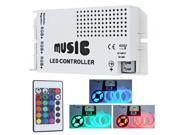 12-24V 24 Key Wireless IR Remote Control LED Music Sound Controller Dimmer for RGB LED Strips 9SIA4411UZ1798