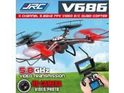 JJRC V686 5.8G FPV Headless Mode RC Quadcopter with HD Camera Monitor
