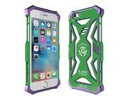 R-just New Ultra-thin Luxury Aluminum Metal Super Hero Back Case Cover Metal Bumper for Apple iphone 6S Plus/6 Plus - Green & purple 9SIA6Z742M0983