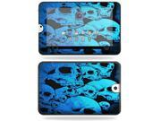 MightySkins Protective Vinyl Skin Decal Cover for Toshiba Thrive 10.1 Android Tablet sticker skins Blue Skulls