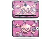 MightySkins Protective Vinyl Skin Decal Cover for Toshiba Thrive 10.1 Android Tablet sticker skins Pink Bow Skull