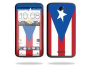 Mightyskins Protective Skin Decal Cover for HTC One X+ Plus Cell Phone AT&T wrap sticker skins PuertoRican Flag