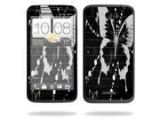 Mightyskins Protective Vinyl Skin Decal Cover for HTC One X 4G AT&T Cell Phone wrap sticker skins Black Butterfly