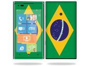 Mightyskins Protective Vinyl Skin Decal Cover for Nokia Lumia 900 4G Windows Phone AT&T Cell Phone wrap sticker skins Brazilian flag