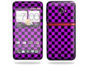 Mightyskins Protective Skin Decal Cover for HTC Evo 4G LTE Sprint Cell Phone T-Mobile wrap sticker skins Purple Check