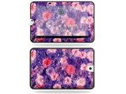 MightySkins Protective Vinyl Skin Decal Cover for Toshiba Thrive 10.1 Android Tablet sticker skins Purple Flowers