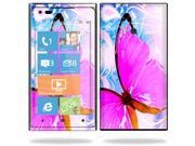 Mightyskins Protective Vinyl Skin Decal Cover for Nokia Lumia 900 4G Windows Phone AT&T Cell Phone wrap sticker skins Pink Butterfly