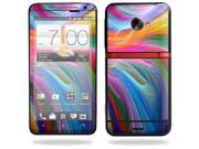 Mightyskins Protective Vinyl Skin Decal Cover for HTC Evo 4G LTE Sprint Cell Phone wrap sticker skins -Rainbow Waves
