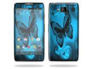 Mightyskins Protective Vinyl Skin Decal Cover for Motorola Droid Razr Maxx Android Smart Cell Phone wrap sticker skins - Dark Butterfly