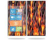 Mightyskins Protective Vinyl Skin Decal Cover for Nokia Lumia 900 4G Windows Phone AT&T Cell Phone wrap sticker skins Hot Flames