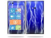 Mightyskins Protective Vinyl Skin Decal Cover for Nokia Lumia 900 4G Windows Phone AT&T Cell Phone wrap sticker skins Lightning Storm