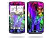 Mightyskins Protective Vinyl Skin Decal Cover for HTC One X 4G AT&T Cell Phone wrap sticker skinsNeon Splatter