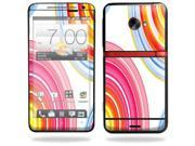 Mightyskins Protective Vinyl Skin Decal Cover for HTC Evo 4G LTE Sprint Cell Phone wrap sticker skins Lollipop Swirls