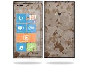 Mightyskins Protective Vinyl Skin Decal Cover for Nokia Lumia 900 4G Windows Phone AT&T Cell Phone wrap sticker skins Desert Camo