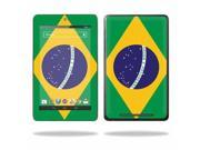 "Mightyskins Protective Skin Decal Cover for Asus Google Nexus 7 Tablet with 7"" screen wrap sticker skins Brazilian Flag"