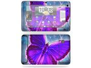 MightySkins Protective Vinyl Skin Decal Cover for HTC EVO View 4G Android Tablet Sticker Skins Violet Butterfly