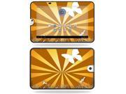 MightySkins Protective Vinyl Skin Decal Cover for Toshiba Thrive 10.1 Android Tablet sticker skins Brown Butterfly