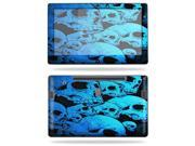 """Mightyskins Protective Vinyl Skin Decal Cover for Samsung Series 7 Slate 11.6"""" Inch Tablet wrap sticker skins Blue Skulls"""