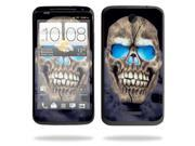 Mightyskins Protective Skin Decal Cover for HTC One X+ Plus Cell Phone AT&T wrap sticker skins Psycho Skull