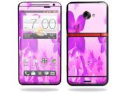 Mightyskins Protective Vinyl Skin Decal Cover for HTC Evo 4G LTE Sprint Cell Phone wrap sticker skins Pink Flowers