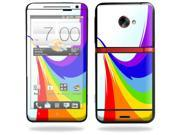Mightyskins Protective Vinyl Skin Decal Cover for HTC Evo 4G LTE Sprint Cell Phone wrap sticker skins Rainbow Flood