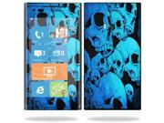 Mightyskins Protective Vinyl Skin Decal Cover for Nokia Lumia 900 4G Windows Phone AT&T Cell Phone wrap sticker skins Blue Skulls