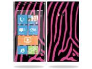 Mightyskins Protective Vinyl Skin Decal Cover for Nokia Lumia 900 4G Windows Phone AT&T Cell Phone wrap sticker skins Zebra Pink
