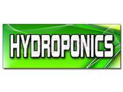 "36"" HYDROPONICS DECAL sticker growing grower water Type: Large Decals"