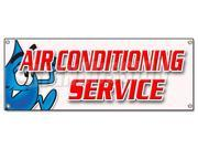 "72"""" AIR CONDITIONING SERVICE BANNER SIGN ac cooling technician air cold maintenance"" 9SIA4431E35072"