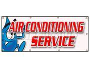 "36""""x96"""" AIR CONDITIONING SERVICE BANNER SIGN ac cooling air cold maintenance"" 9SIA4431E53590"