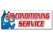 "36"""" AIR CONDITIONING SERVICE DECAL sticker ac cooling technician air cold maintenance"" 9SIA4431F50783"