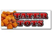 "48"" TATER TOTS DECAL sticker tots french fries potato taters appetizer dinner Type: Large Decals"