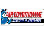AC REPAIR & SERVICE BANNER SIGN hvac air conditioning estimates finance 9SIA4433428354