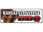 "72"""" KANSAS CITY STYLE BBQ BANNER SIGN beef brisket ribs pork barbque open"" 9SIA4433441639"