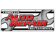 "36""""x96"""" COMPLETE AUTO REPAIR FREE ESTIMATES BANNER SIGN cars a/c brakes muffler"" 9SIA4433441978"