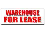 "12"""" WAREHOUSE FOR LEASE DECAL sticker a/c ac build to suit loading free rent"" 9SIA4433499795"