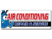 "48"""" AC REPAIR & SERVICE DECAL sticker hvac air conditioning estimates finance"" 9SIA44334A0487"
