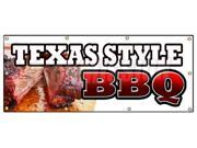 "36""""x96"""" TEXAS STYLE BBQ BANNER SIGN beef brisket ribs pork bar b que open"" 9SIA4433441085"