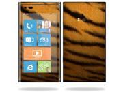 Mightyskins Protective Vinyl Skin Decal Cover for Nokia Lumia 900 4G Windows Phone AT&T Cell Phone wrap sticker skins Tiger