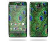 Mightyskins Protective Skin Decal Cover for Motorola Droid Razr Hd & Razr Maxx HD Cell Phone wrap sticker skins Peacock