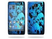 Mightyskins Protective Skin Decal Cover for Motorola Droid Razr Hd & Razr Maxx HD Cell Phone wrap sticker skins Blue Skulls
