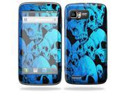 Mightyskins Protective Skin Decal Cover for Motorola Atrix 2 II (version 2) Cell Phone Sticker Blue Skulls